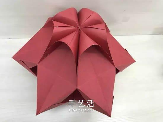 元旦新年小手工 折纸制作漂亮的纸灯笼图解 -  www.shouyihuo.com