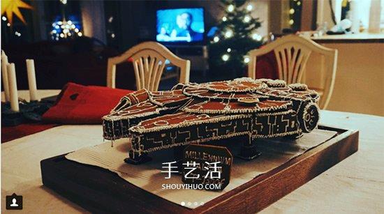 聖誕節傳統的薑餅屋 轉變成星際大戰風戰艦