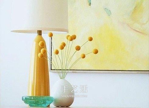 羊毛毡插花装饰品DIY 只要把羊毛搓成球就可以 -  www.shouyihuo.com