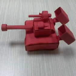 小纸盒子废物利用 手工制作可爱的坦克模型
