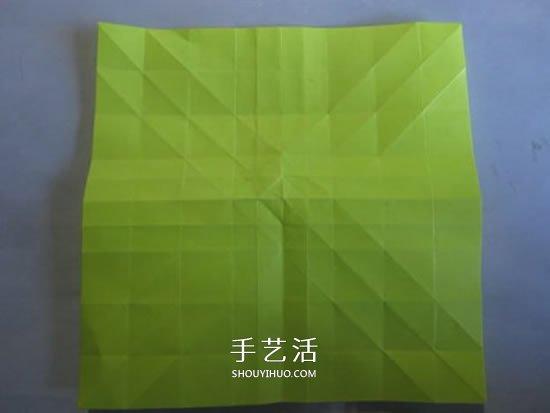 原创纸玫瑰花的折纸图解 步骤过程非常详细 -  www.shouyihuo.com