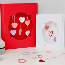 创意又漂亮的立体情人节贺卡手工制作教程