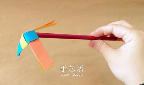 幼儿手工风车图片步骤 会旋转的小风车做法 -  www.shouyihuo.com