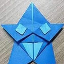 搞笑五角星的折纸方法 折出带表情的卡通星星