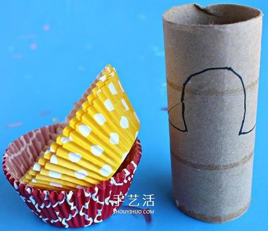 衛生紙筒和蛋糕紙廢物利用 手工製作感恩節火雞
