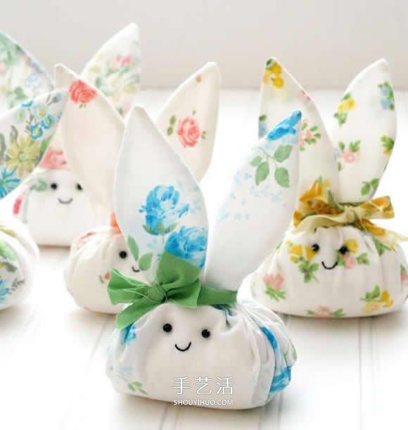 不织布手工制作可爱不倒翁兔子的方法图解 -  www.shouyihuo.com
