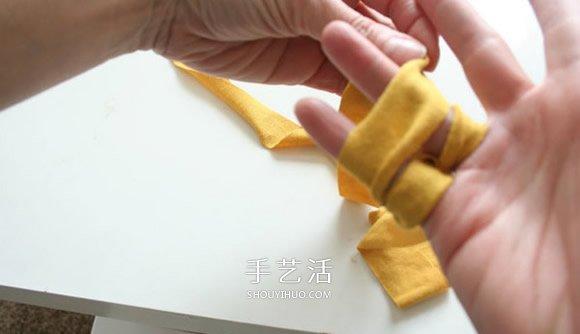 舊T恤編織手鏈的方法 粗獷風男士手鏈DIY