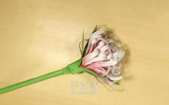 重阳节手工制作 彩纸做立体菊花的方法图解 -  www.shouyihuo.com
