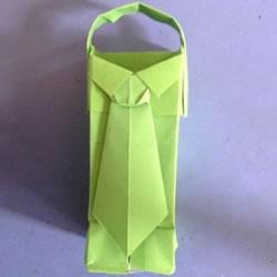 有创意纸盒/纸篮折纸图解 衬衫领带很可