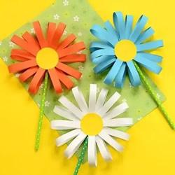 重阳节儿童小手工 漂亮又可爱卡纸菊花的做法