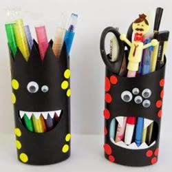 洗发水瓶/沐浴液瓶DIY 怪物风格卡通笔筒制作