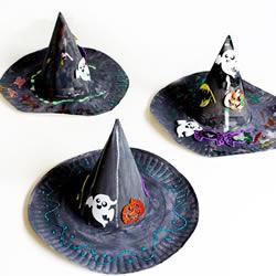 蛋糕盘废物利用 手工制作万圣节女巫帽的方法