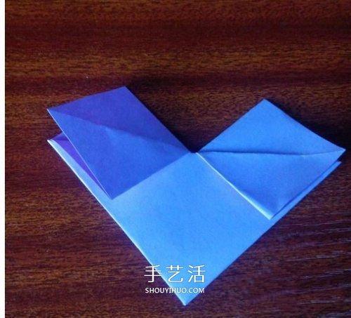 心的折叠方法图解_最简单心形的折纸教程 幼儿园折纸爱心图解_手艺活网