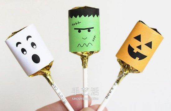萬聖節糖果包裝DIY 簡單做成可愛的怪物風格