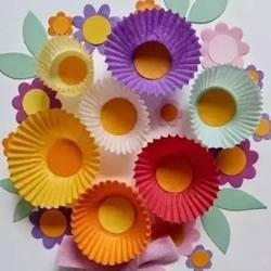 最简单蛋糕纸花的做法 蛋糕纸手工制作可爱小花