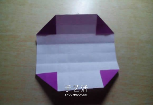 怎么折纸格纹爱心图解 双色格子心形的折法 -  www.shouyihuo.com