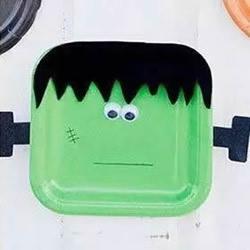 万圣节小怪物手工制作 简单的纸餐盘废物利用