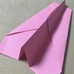 最简单纸飞机折纸图解 飞起来非常平稳持久