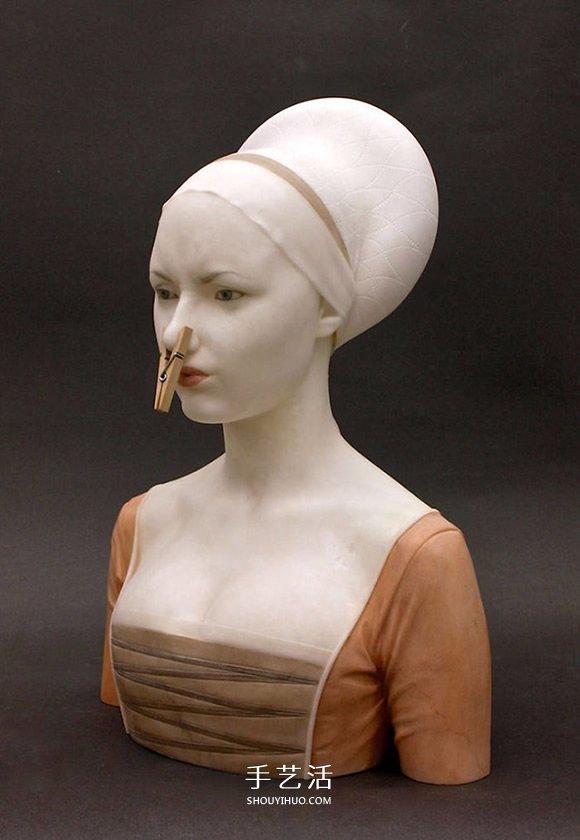 幽默大理石雕塑 带领大家从新角度认识古人 -  www.shouyihuo.com