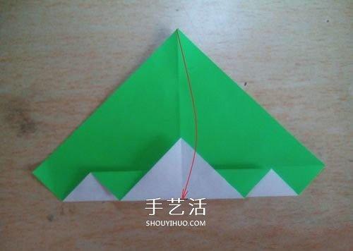 大格纹爱心的折纸方法 简单格纹心叠纸图解 -  www.shouyihuo.com