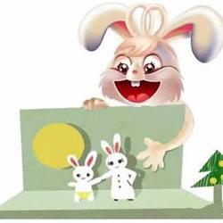 卡通兔子贺卡的制作方法 中秋节兔子卡片怎么做