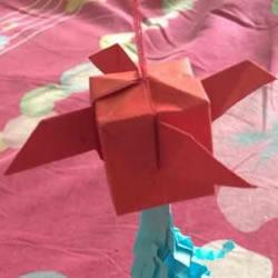 带翅膀灯笼的折纸方法 带穗子纸灯笼折法图解