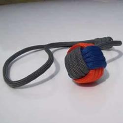 球体刀坠用伞绳编织图 圆球伞绳刀坠的编法