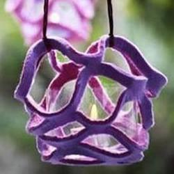 不织布做挂饰的方法 手工布艺风铃DIY图解