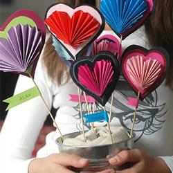 创意爱心卡片手工制作 情人节或母亲节都合用