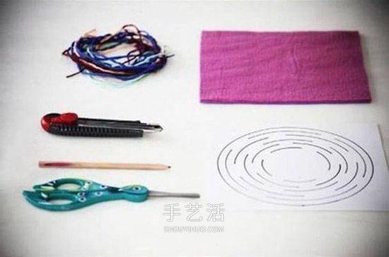 不织布做挂饰的方法 手工布艺风铃DIY图解 -  www.shouyihuo.com