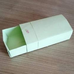简单火柴盒怎么折图解 可以拉开关上很逼真