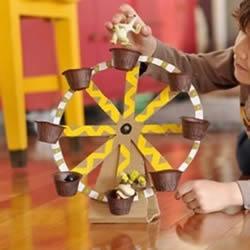 手工摩天轮怎么做 瓦楞纸制作摩天轮玩具图片