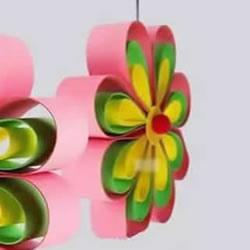 卡纸做八瓣花的方法 手工制作立体花朵挂饰