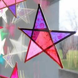 竹条手工制作五角星风铃 自制星星挂饰的方法
