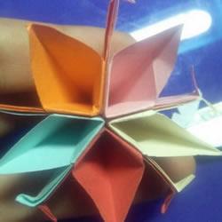 五张纸折纸花的教程 组合式五瓣花怎么折图解