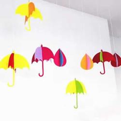 简单小清新挂饰DIY 不织布做雨天风铃的方法