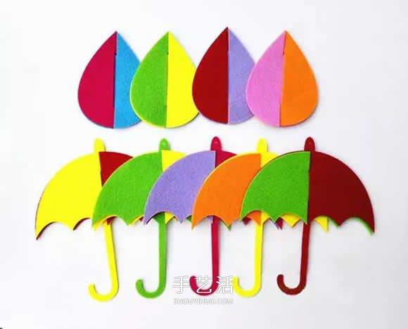 簡單小清新掛飾DIY 不織布做雨天風鈴的方法