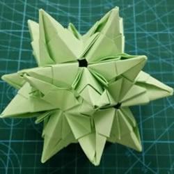 怎么折纸星星花球图解 发射光芒立体星星