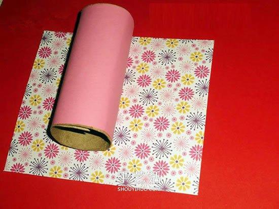 用紙筒做燈籠的方法 廢物利用紙燈籠DIY圖解