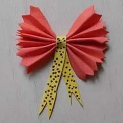 最简单蝴蝶结的折纸方法图解 可爱又漂亮!