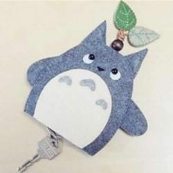 自制卡通钥匙包的方法 手工布艺龙猫钥匙包制作