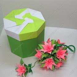情人节八角盒子的折法 漂亮情人节礼品盒折纸