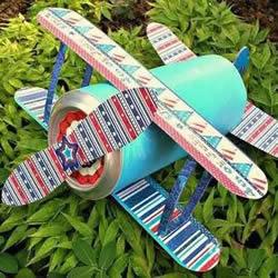 小学生手工小制作 用易拉罐做飞机模型的方法