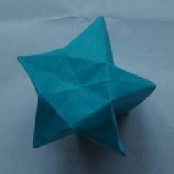 复杂立体五角星的折法 有难度的星星折纸图解