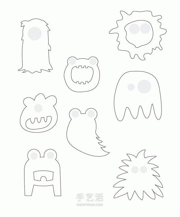 有趣的賀卡DIY 萬聖節小怪物賀卡手工製作