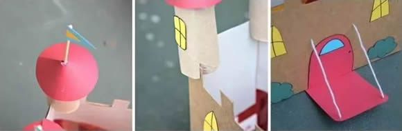 玩具城堡手工製作方法 廢紙箱做城堡的圖解