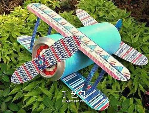 小學生手工小製作 用易拉罐做飛機模型的方法