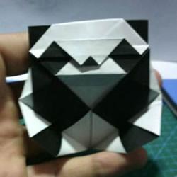 折一只国宝出来!可爱大熊猫的折纸方法