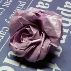 齿轮玫瑰的折纸方法 长条纸折纸玫瑰花图