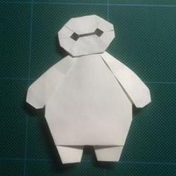 儿童手工折纸大白图解 简单又可爱大白的折法